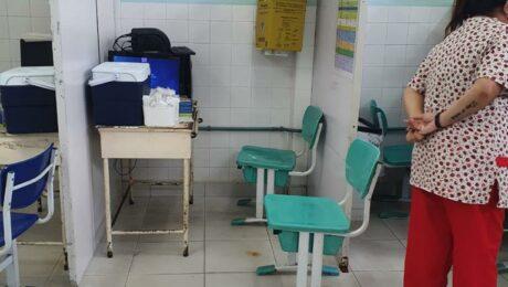 Sala de vacinação no Polo Sanitário Washington Luiz Lopes
